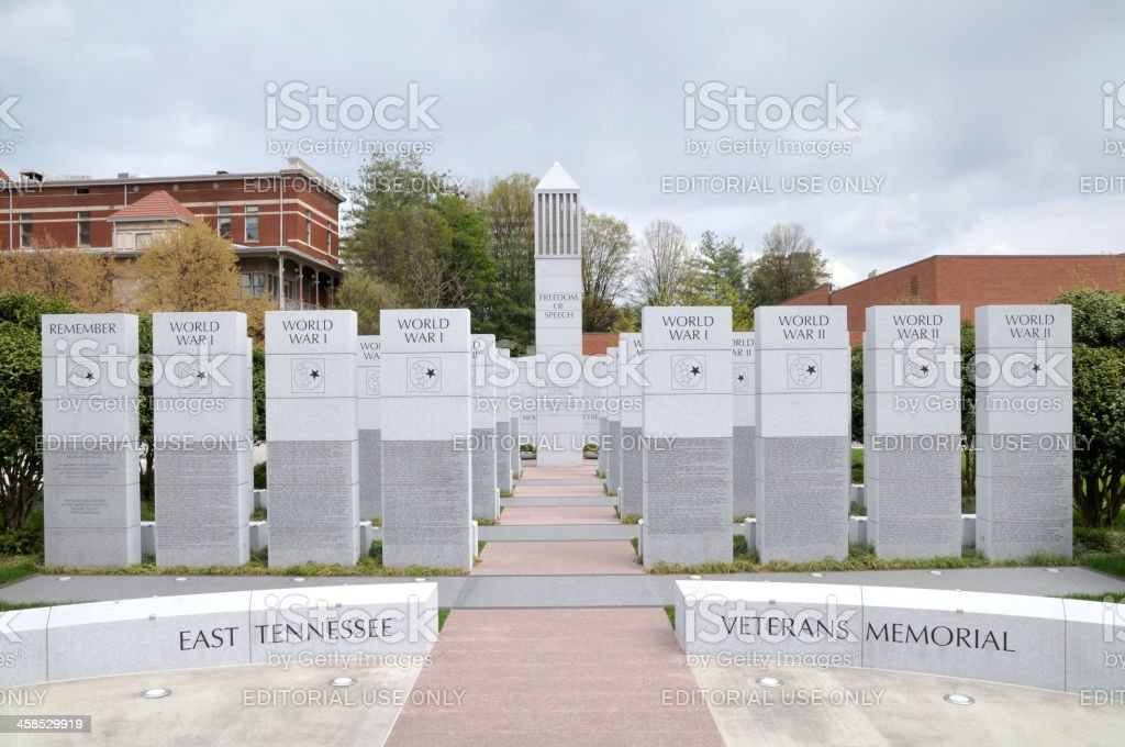 East Tennessee Veteran's Memorial at Knoxville, TN USA stock photo
