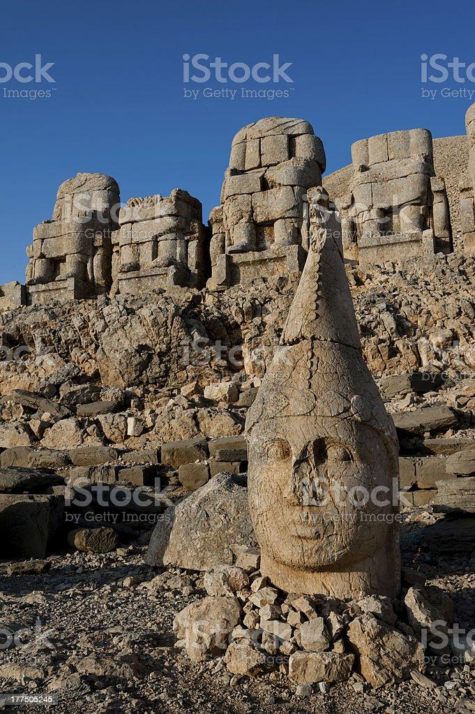 East terrace Mount Nemrut. royalty-free stock photo