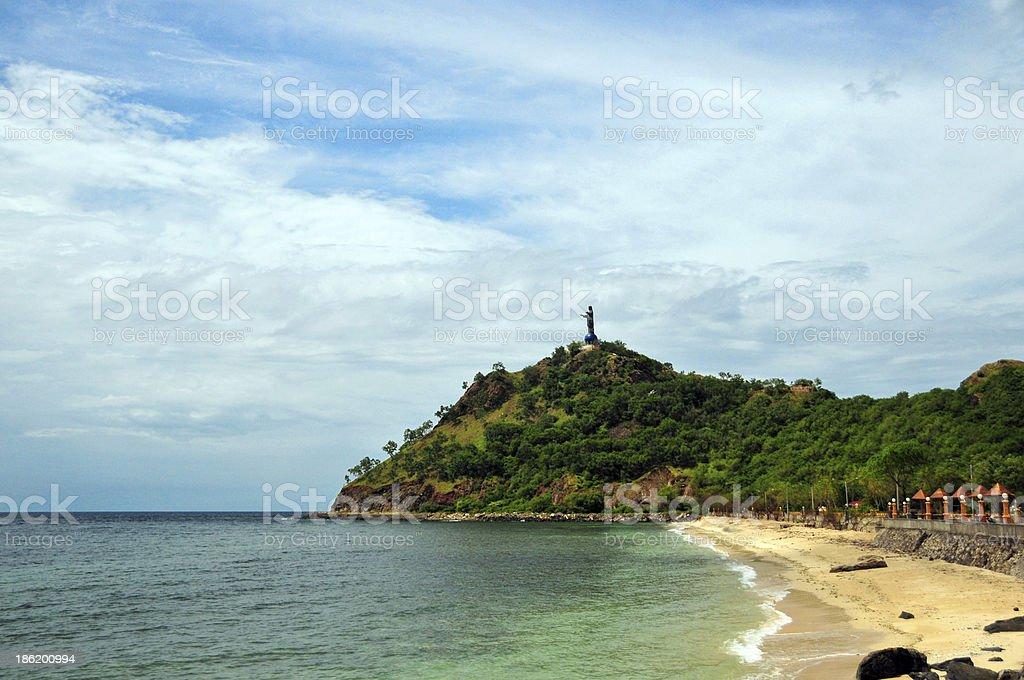East Timor: Areia Branca beach stock photo