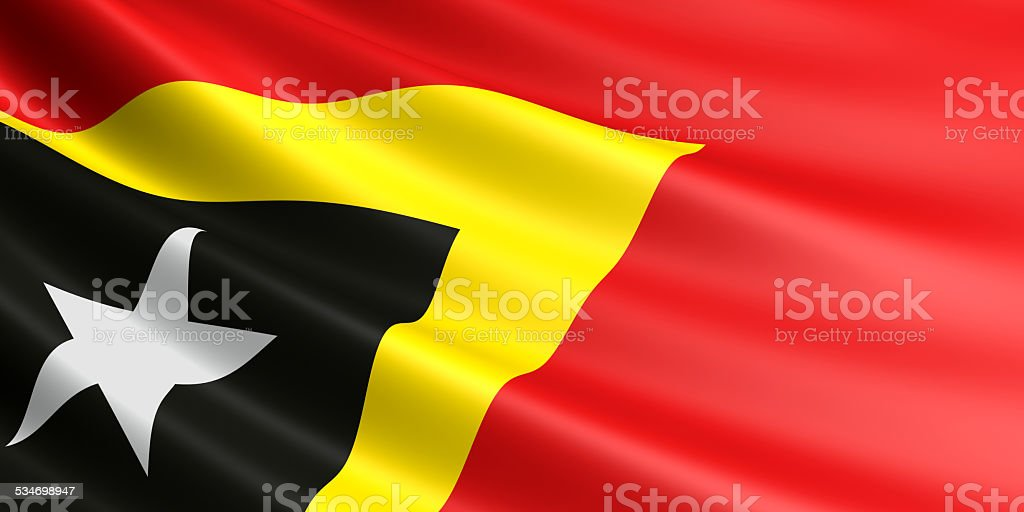 East Timor flag. stock photo