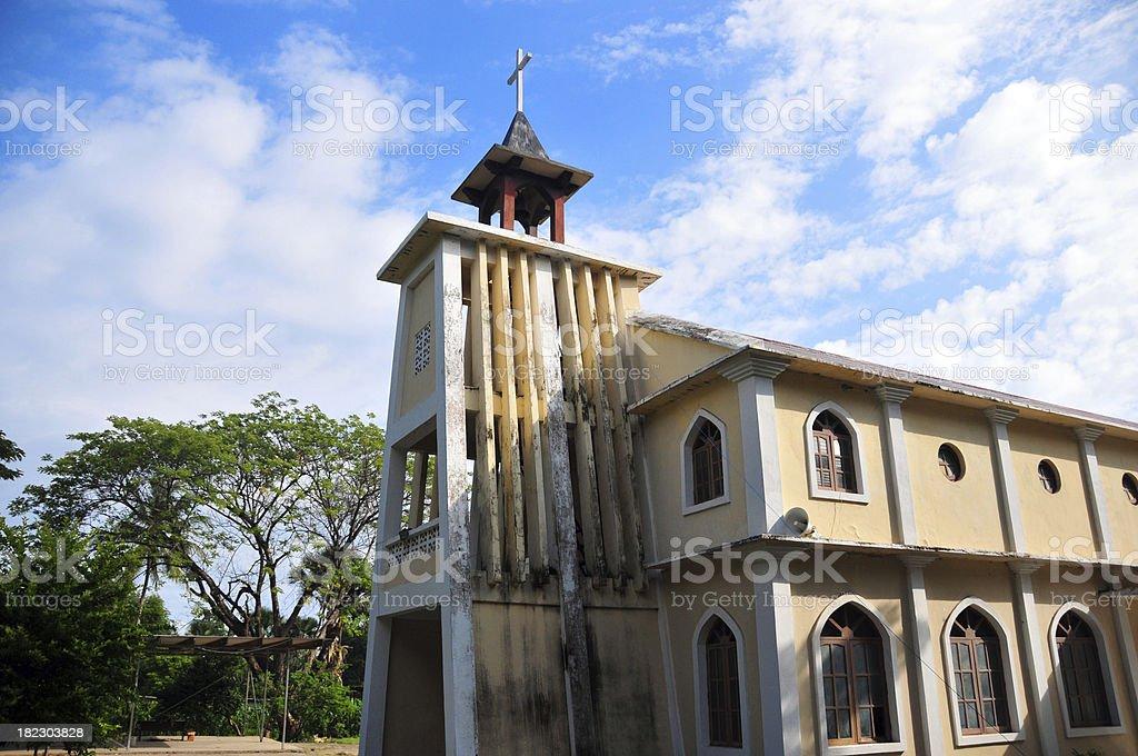 East Timor, Hera, São Tiago church stock photo