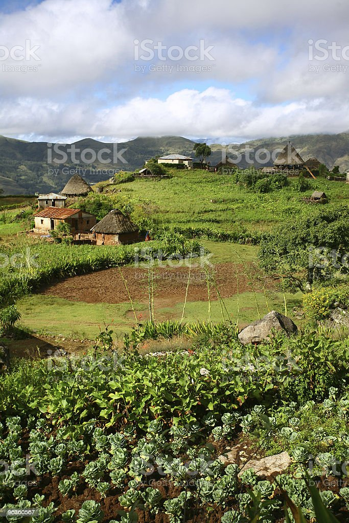 East Timor Mountain Village stock photo