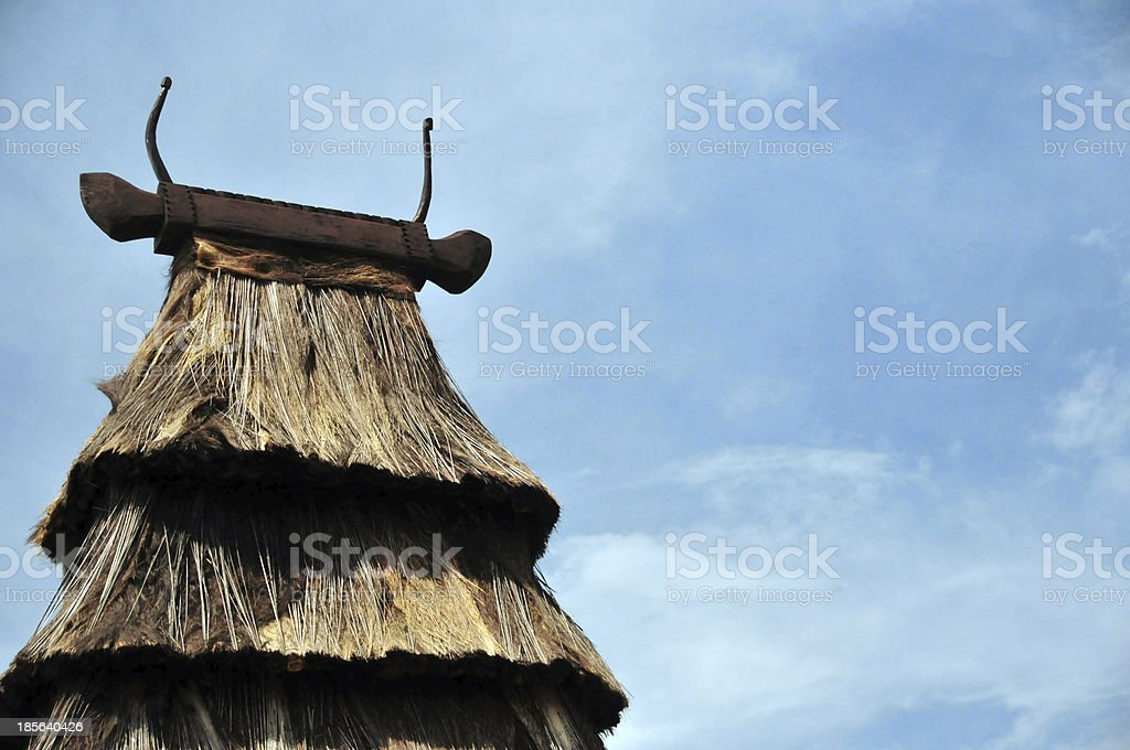 East Timor: Timorese traditional architecture stock photo