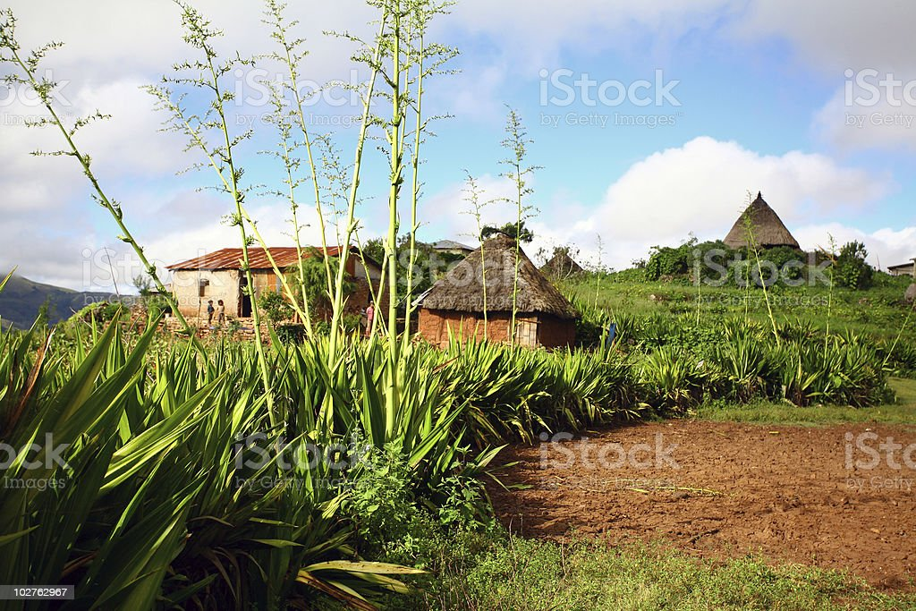 East Timor Village stock photo