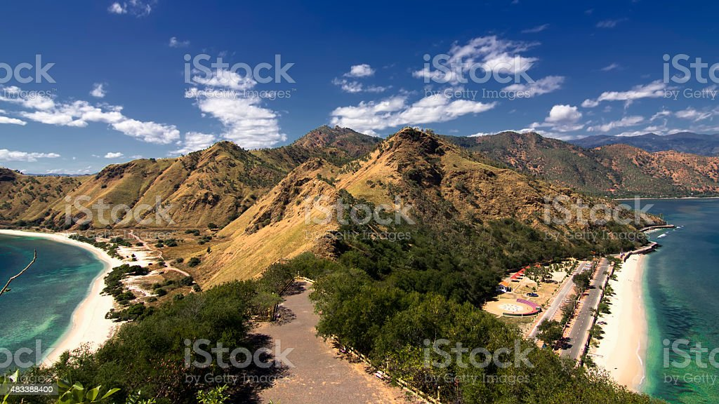 East timorese landscape stock photo