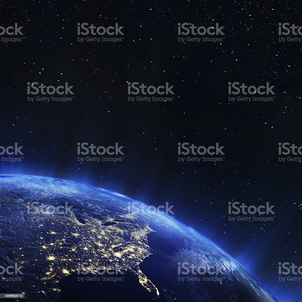 East USA from space stock photo