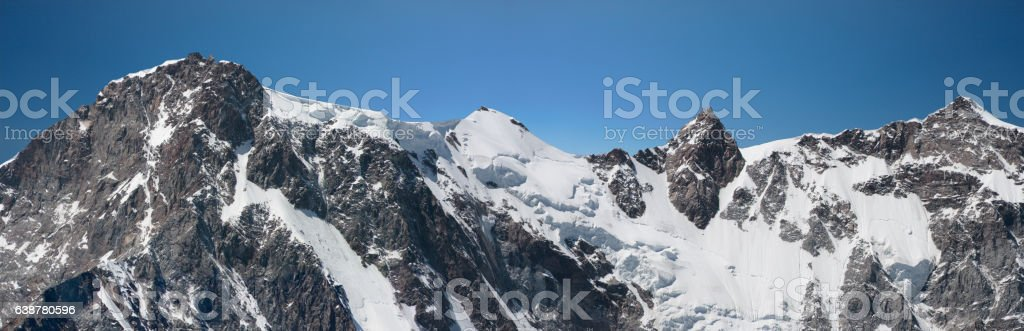 East wall of Monte Rosa. stock photo