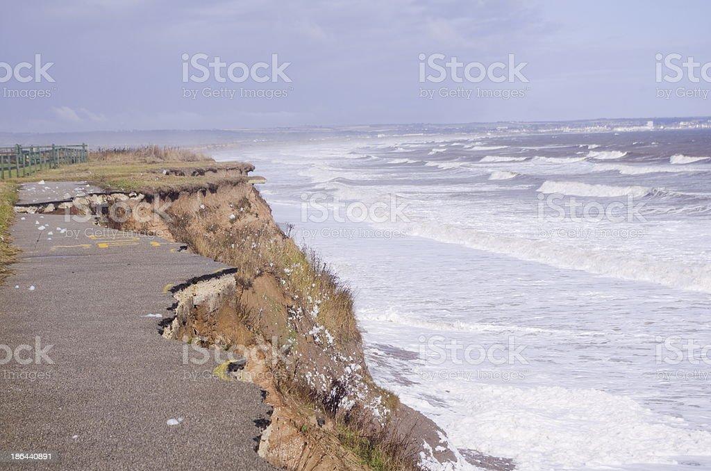 East Yorkshire Coast Erosion stock photo