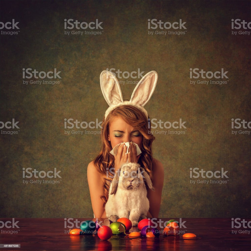 easter accident stock photo