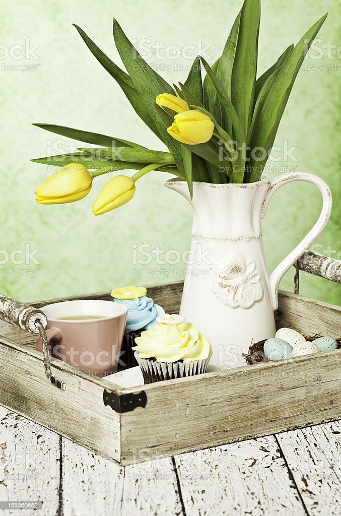 Easter Afternoon Tea stock photo