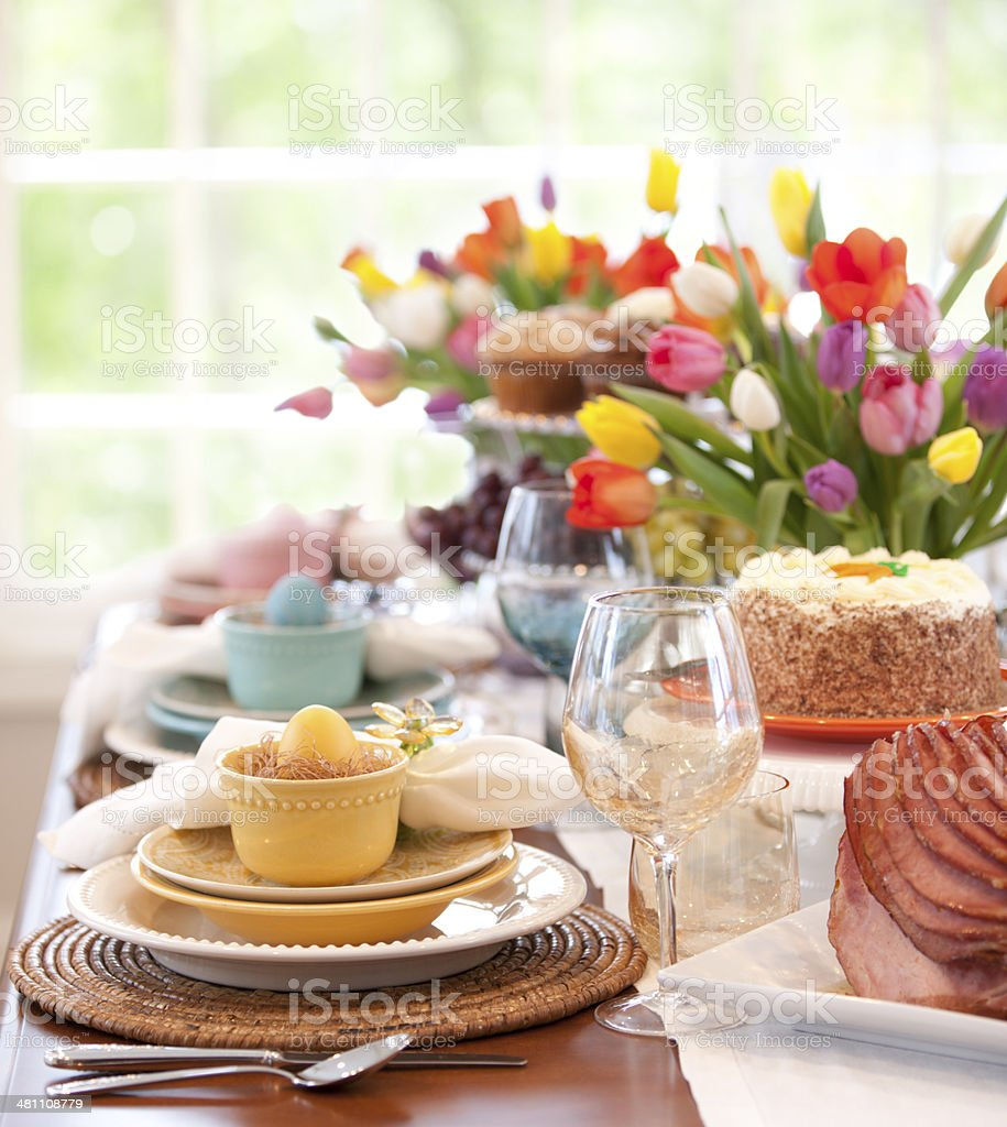 Easter and Special Occasion Dining stock photo