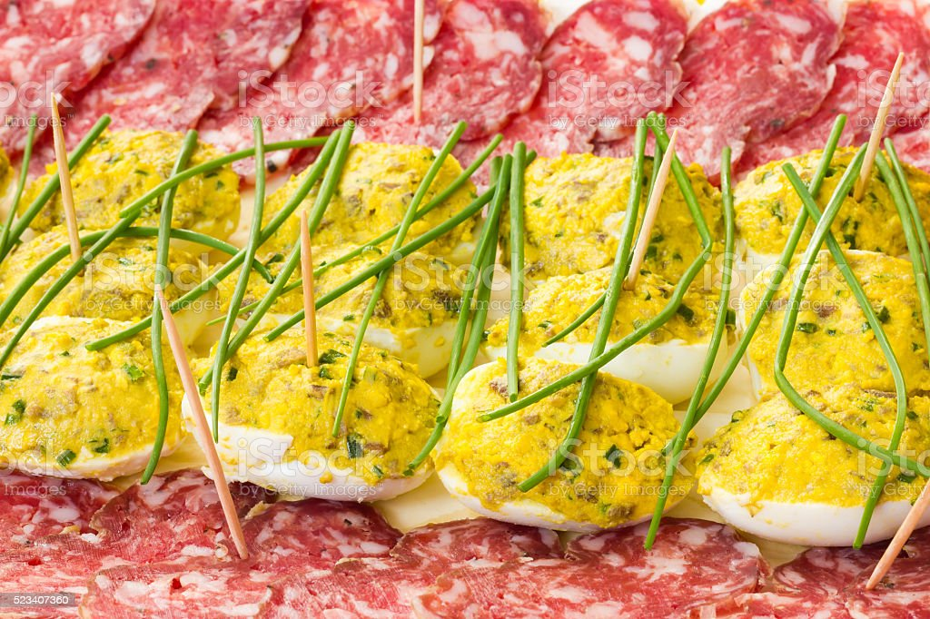 Easter appetizer stock photo