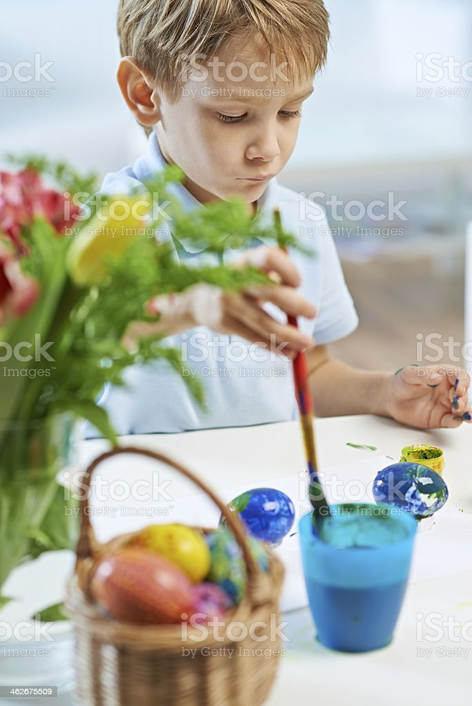 Easter art class royalty-free stock photo