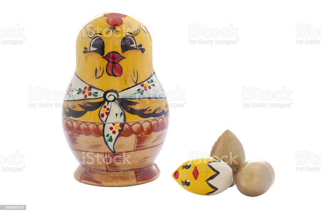 Easter Babushka Doll royalty-free stock photo