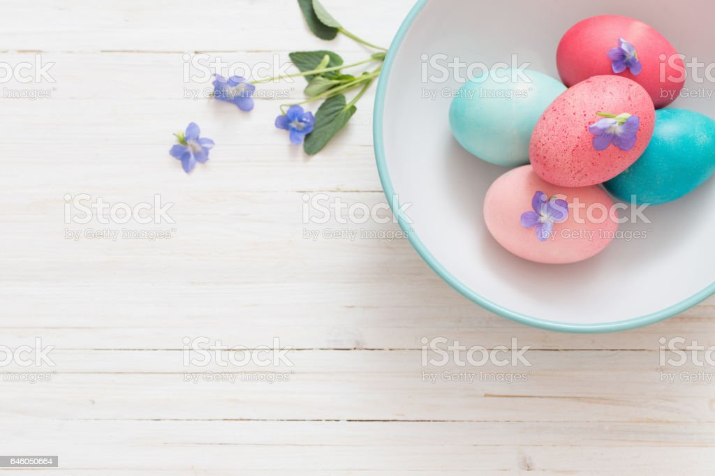 Easter background with eggs stock photo