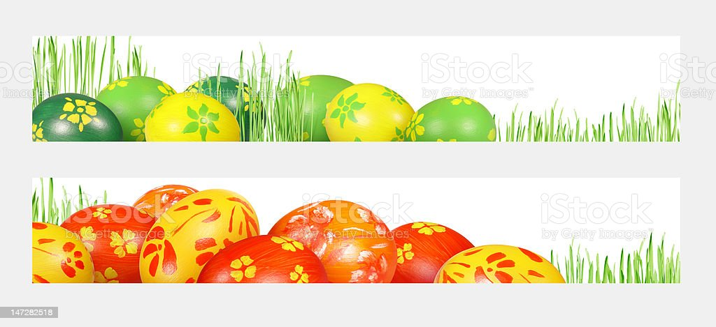 Easter banners royalty-free stock photo