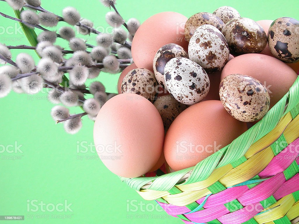 Easter basket royalty-free stock photo