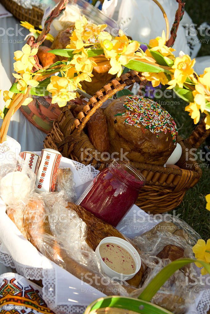 Easter baskets royalty-free stock photo