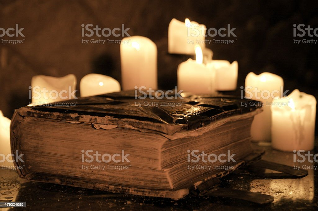 Easter Bible stock photo