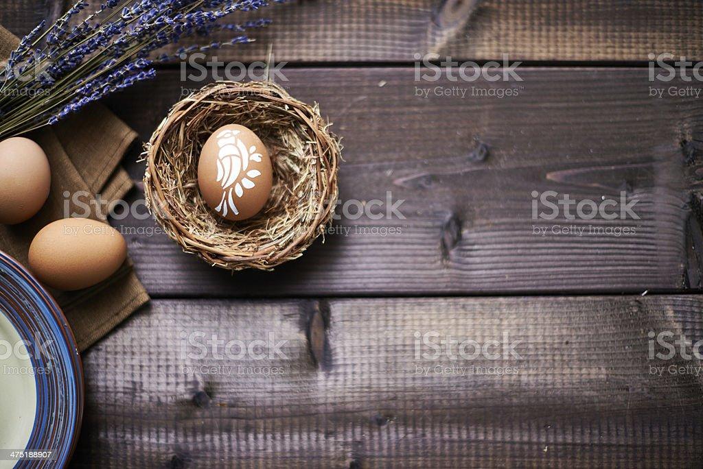 Easter bird design royalty-free stock photo
