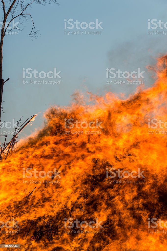 Easter bonfire royalty-free stock photo