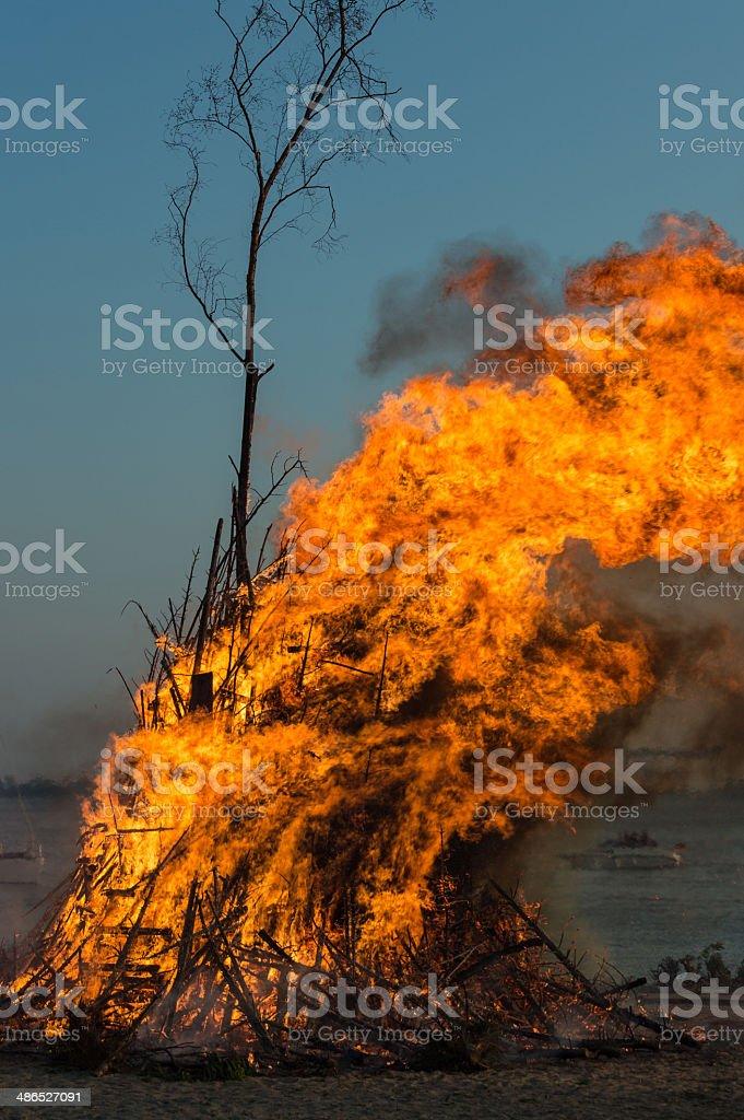 Easter bonfire royalty-free stock photo