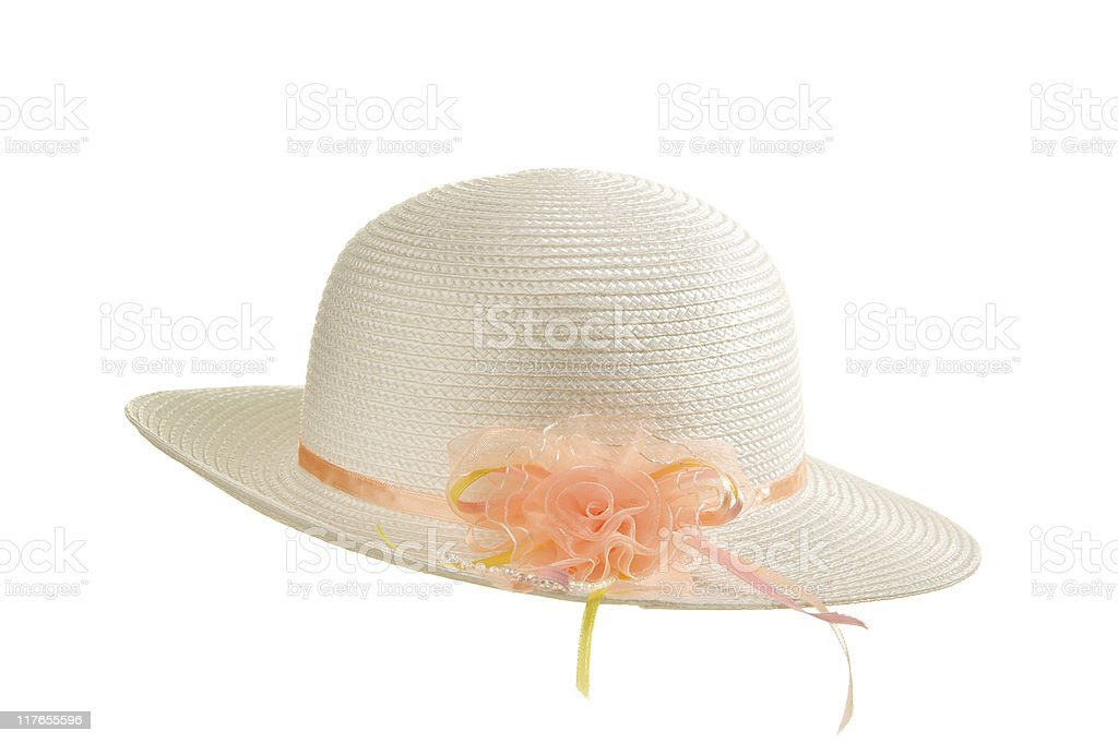 Easter Bonnet on White royalty-free stock photo