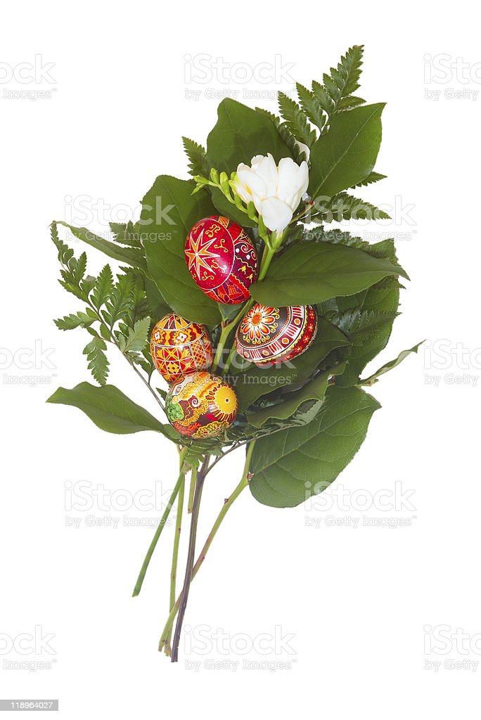 Easter bouquet Isolated royalty-free stock photo