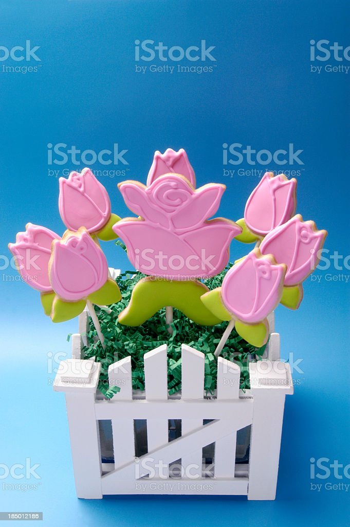 Easter bouquet made of iced cookies. royalty-free stock photo