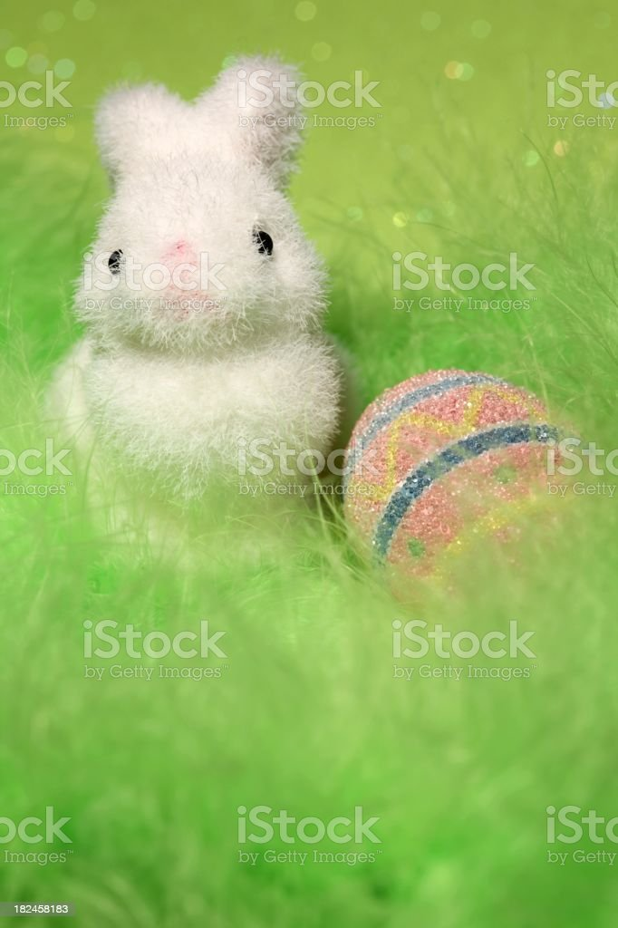 Easter bunny and egg royalty-free stock photo