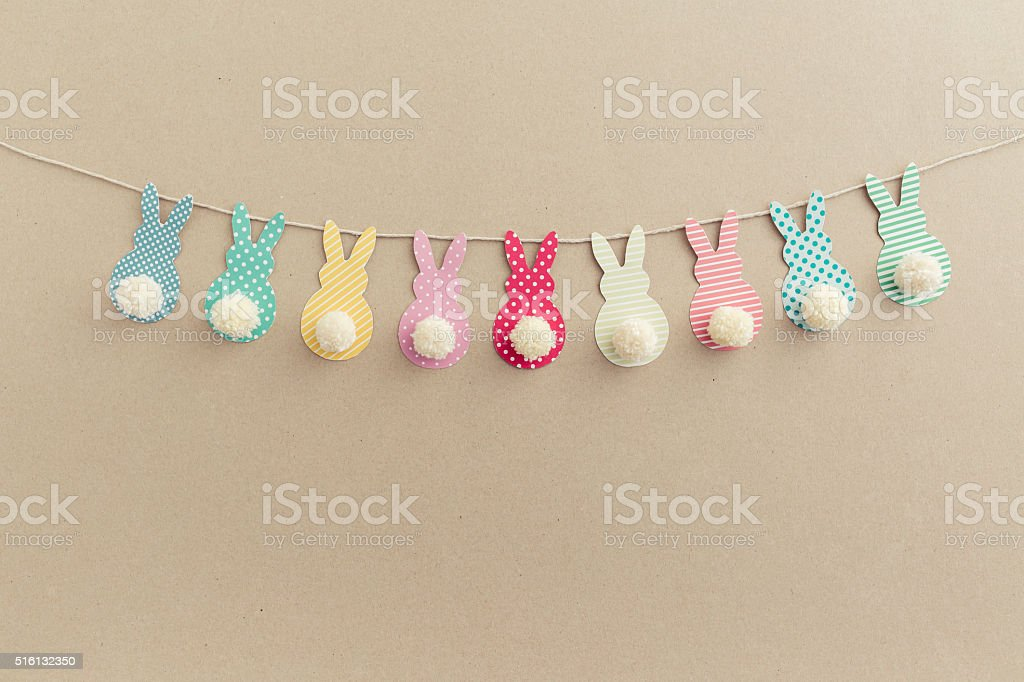 Easter Bunny Banner. stock photo