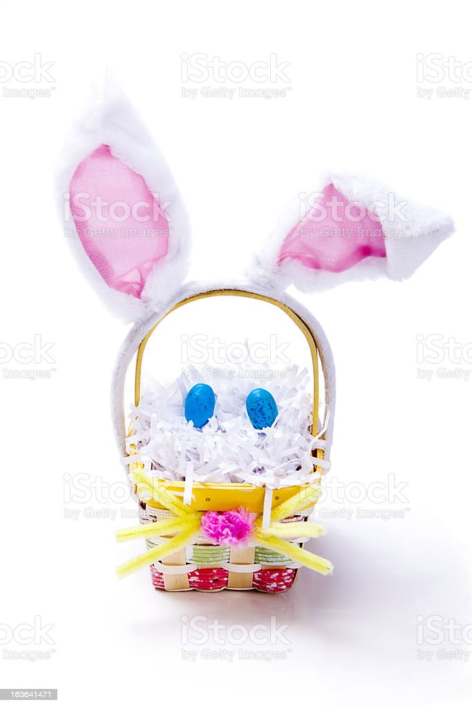 Easter Bunny Basket stock photo