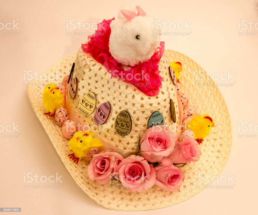 Easter Bunny Bonnet stock photo