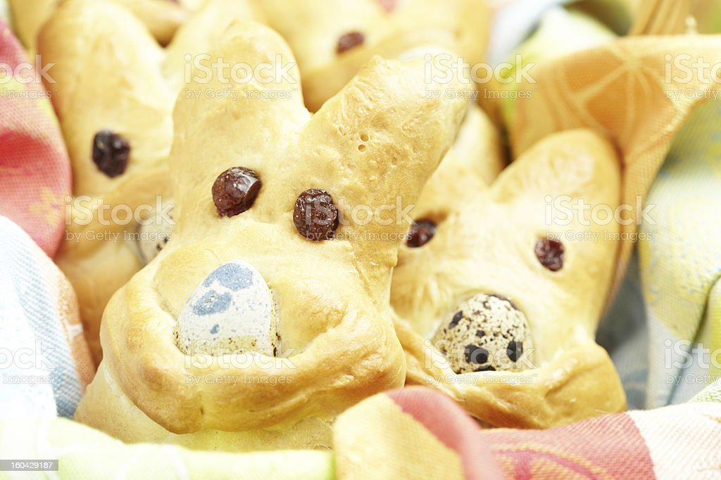 Easter bunny buns royalty-free stock photo