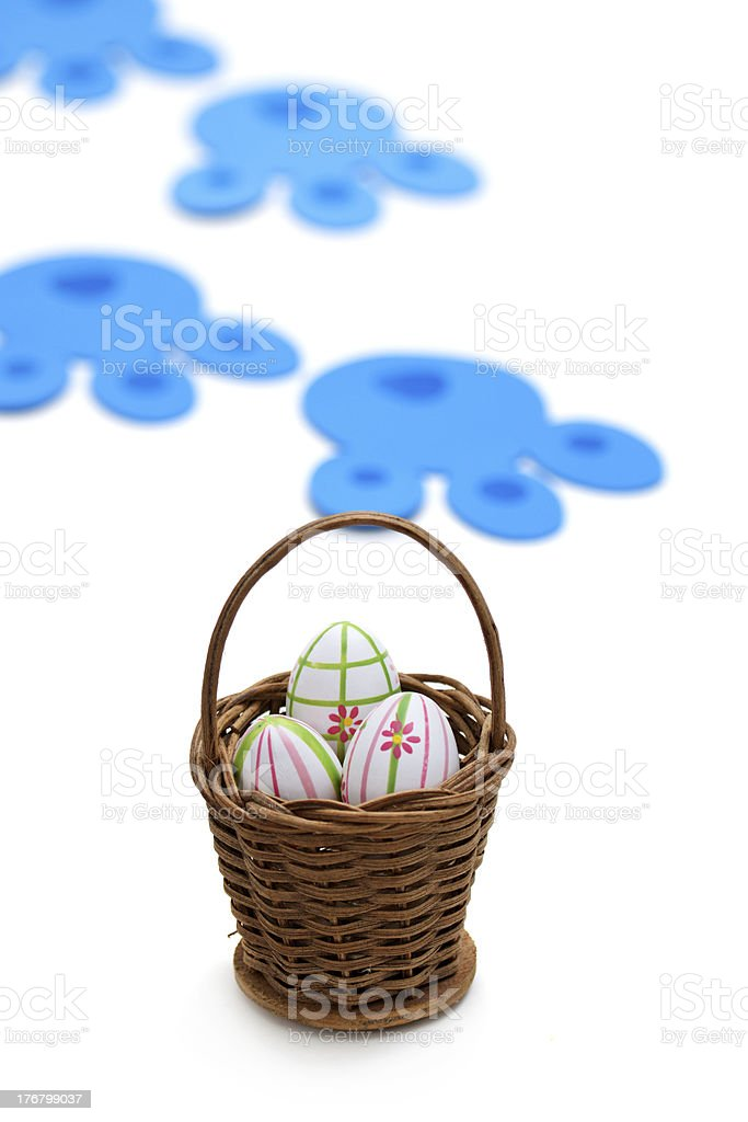 Easter bunny delivery royalty-free stock photo