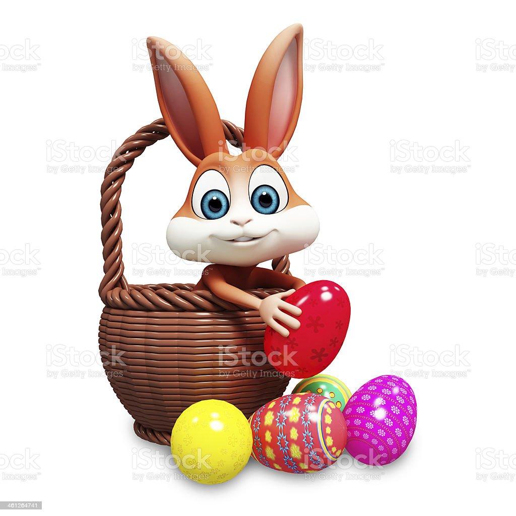 Easter Bunny Pick Up Egg stock photo 461264741   iStock