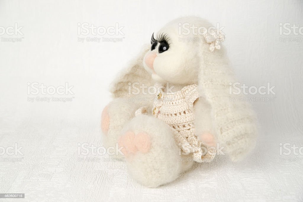Easter bunny toy stock photo