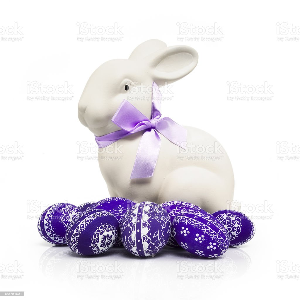 Easter Bunny with Eggs royalty-free stock photo
