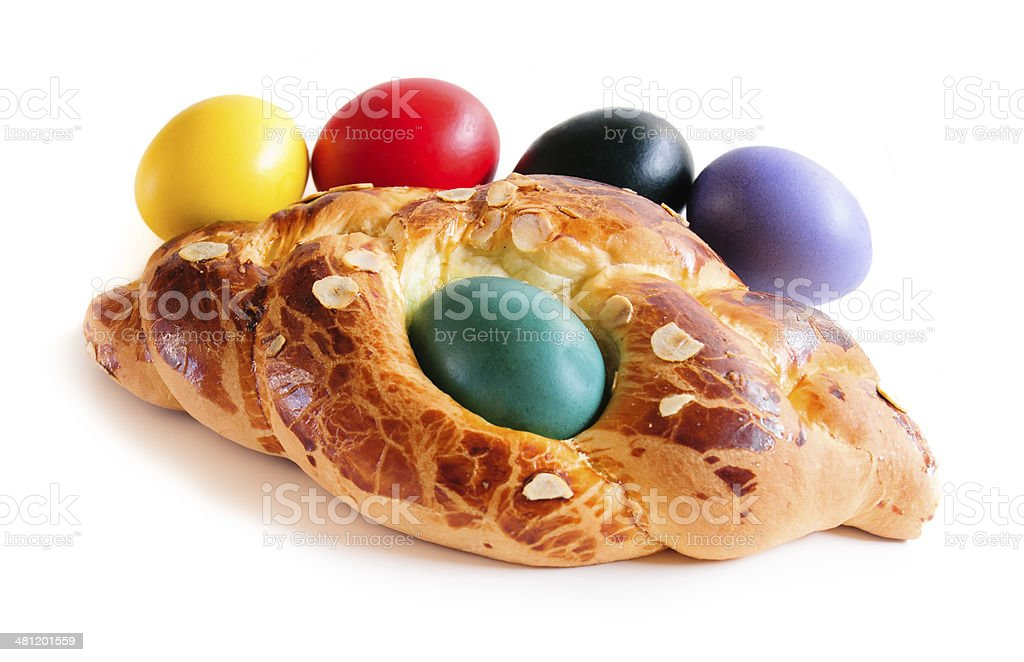 Easter cake with egg stock photo