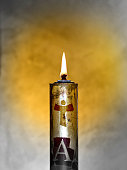 Easter candle welcomes the light of the holy spirit