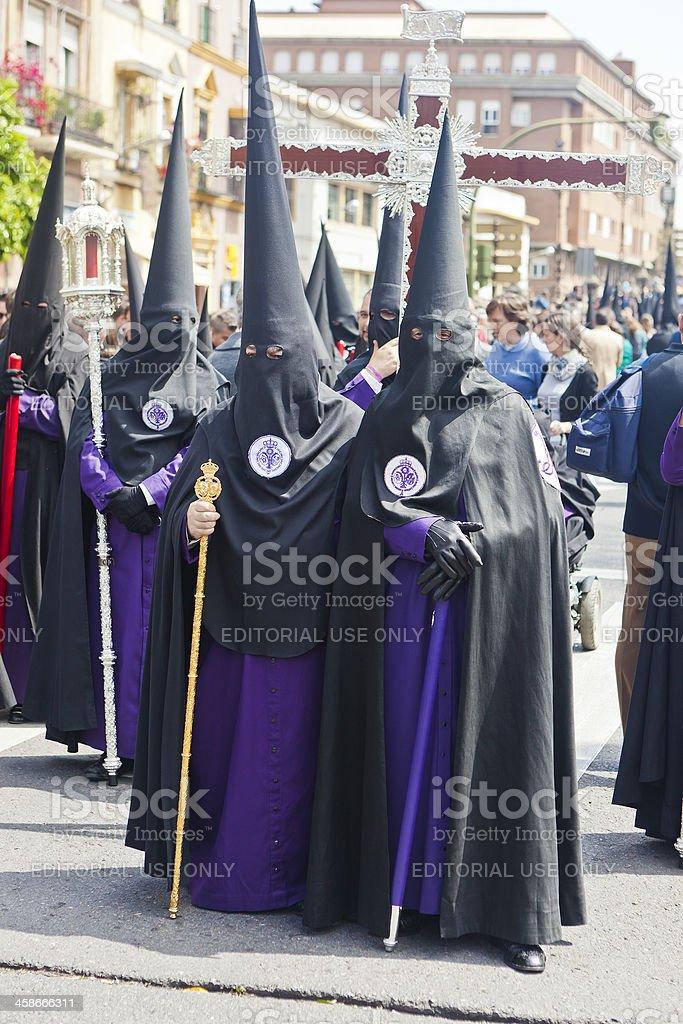 Easter Celebration In Seville, Spain royalty-free stock photo