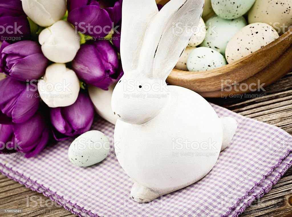 Easter Celebration with Rabbit royalty-free stock photo