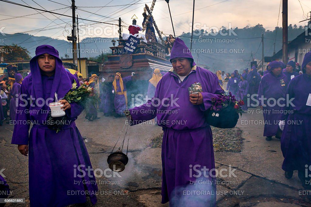 Easter Celebrations in Antigua, Guatemala stock photo