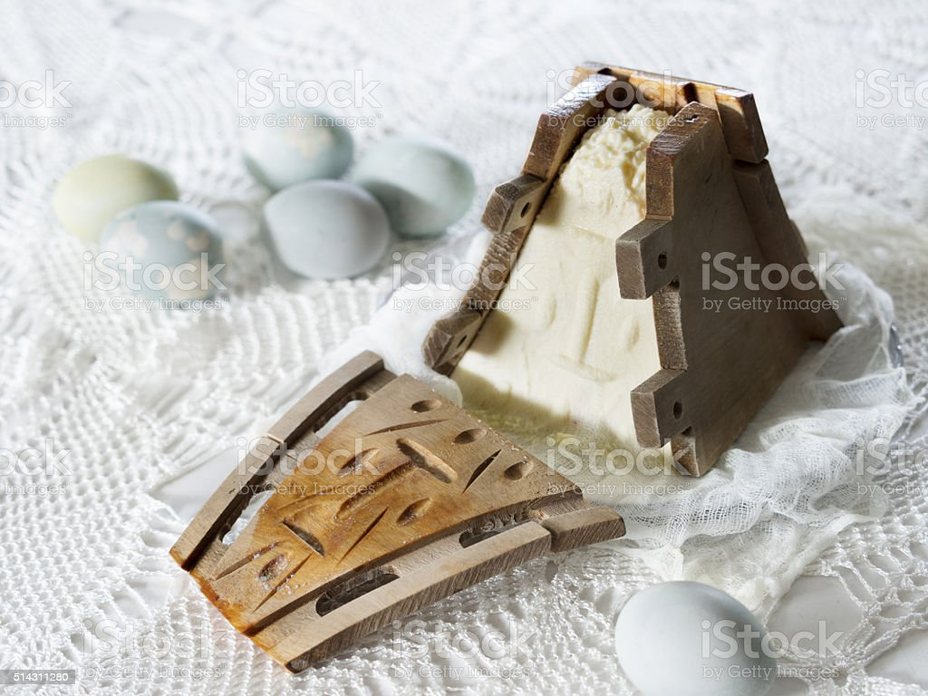 Easter cheese dessert pasha royalty-free stock photo