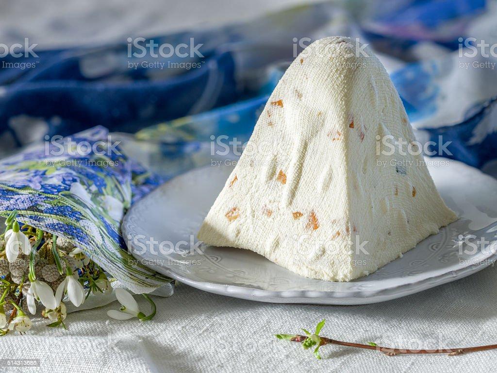Easter cheese dessert pasha royalty-free stock photo