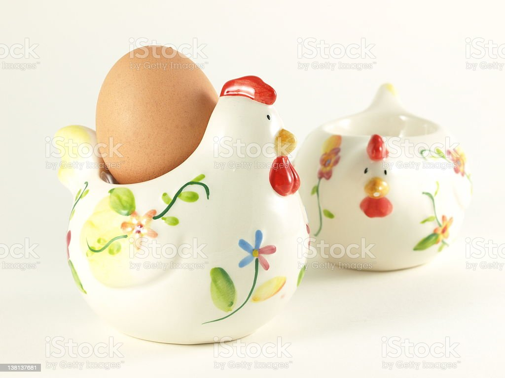 Easter chicken with egg. royalty-free stock photo