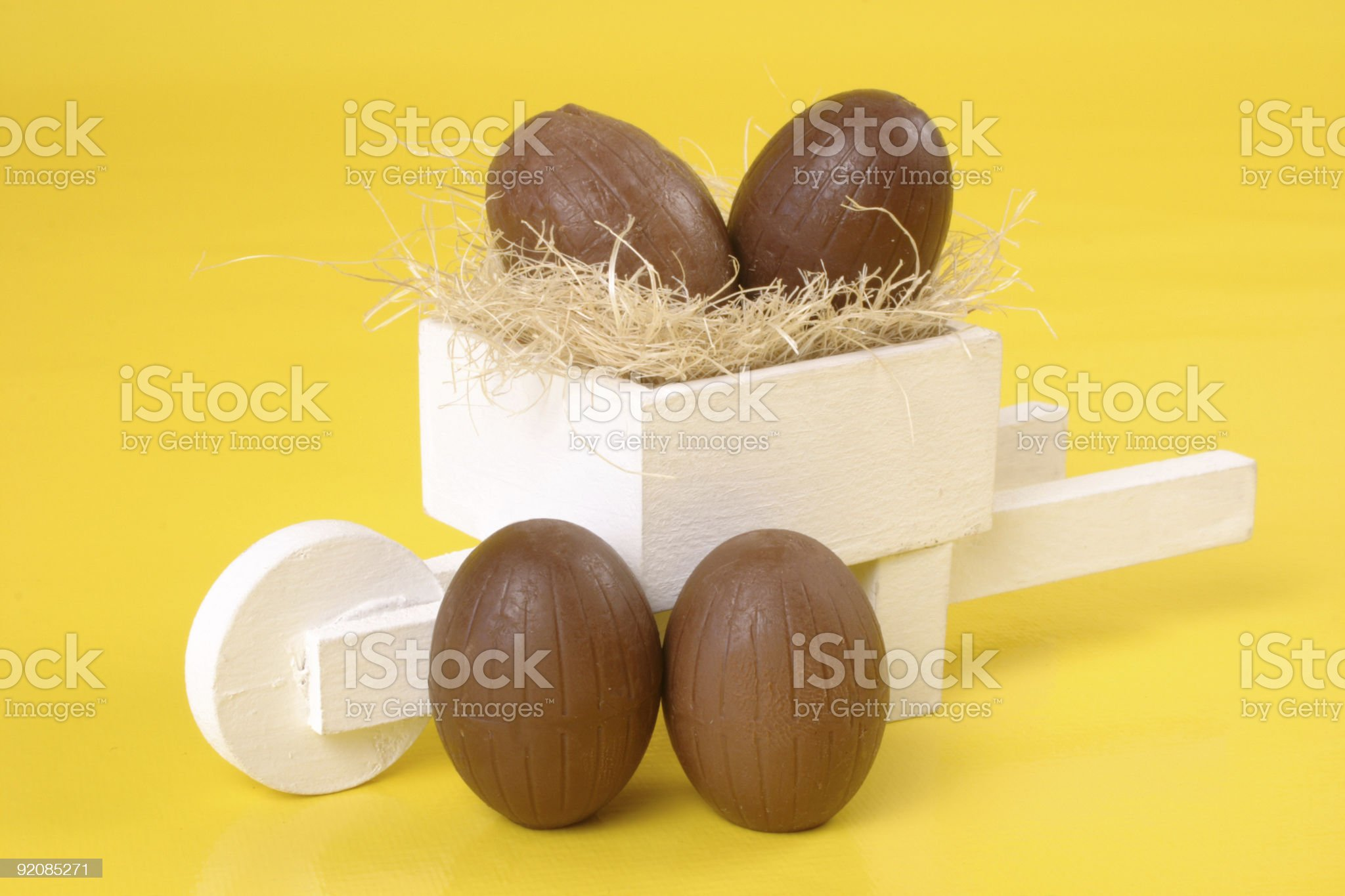Easter chococart royalty-free stock photo