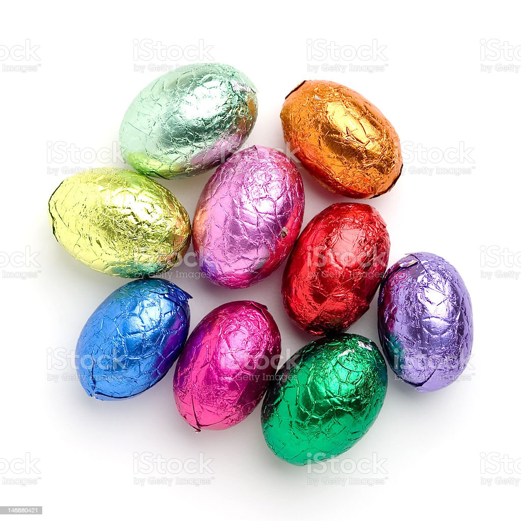 Easter chocolate stock photo