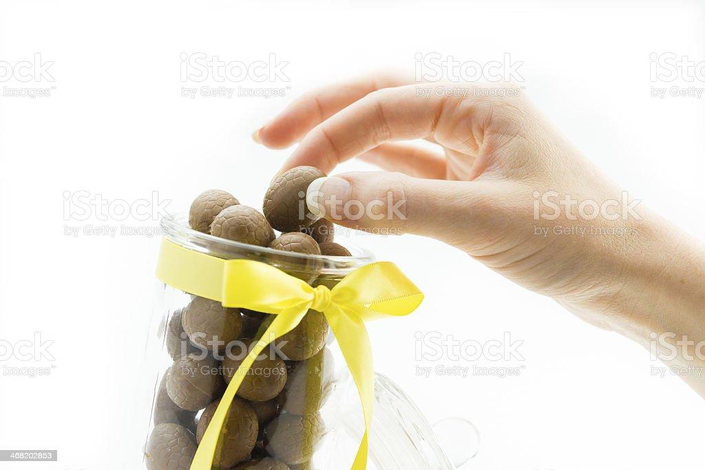 Páscoa de chocolate foto royalty-free