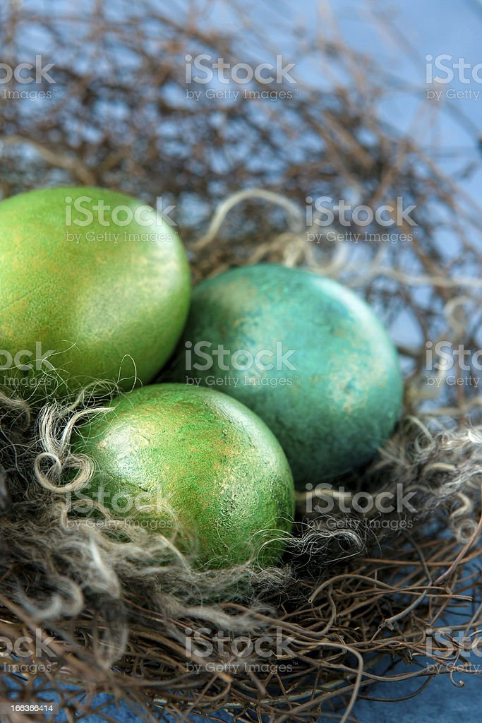 Easter colorful eggs royalty-free stock photo